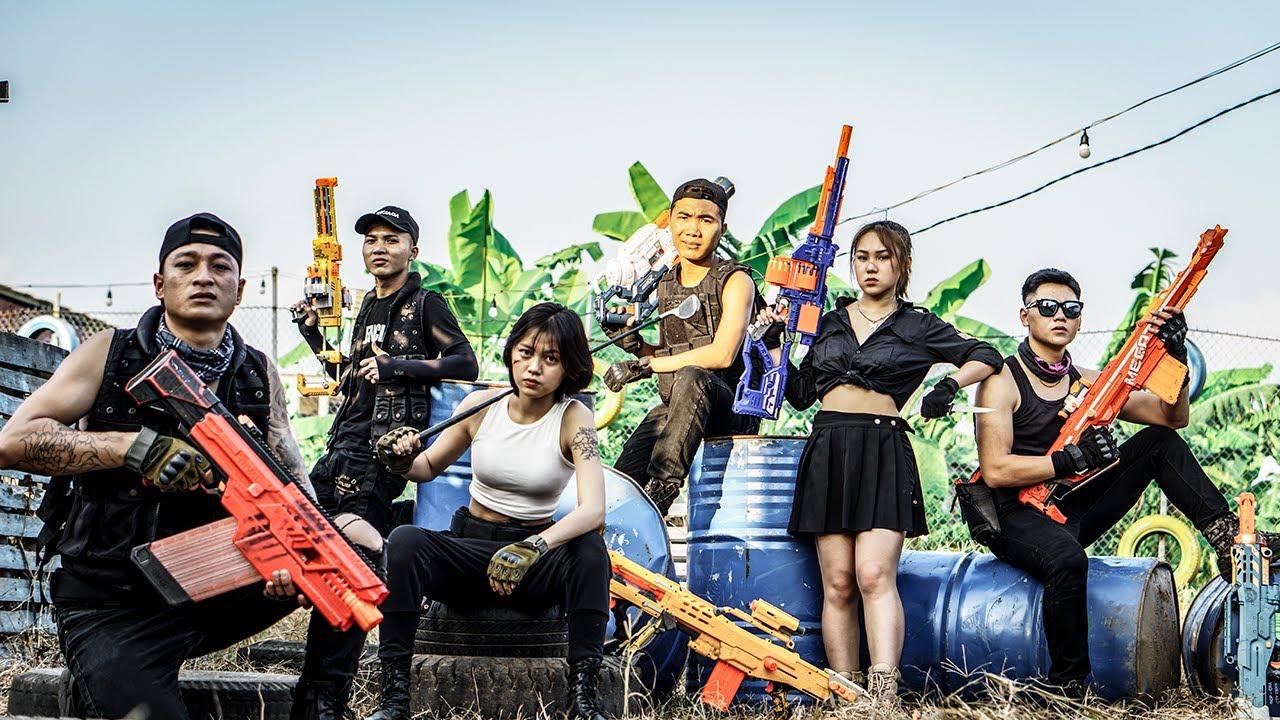 LTT Nerf War : Black Panther Campaign SEAL X Warriors Nerf Guns Fight Criminal Group Dr Ken Crazy