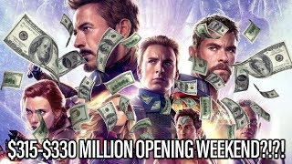 Avengers Endgame Opening Weekend Projected For $315-$330 Record Crusher