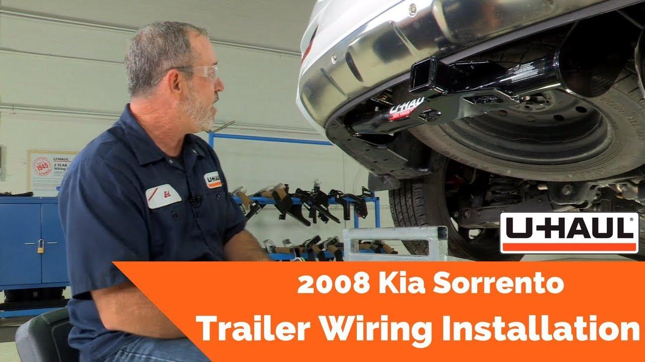 2008 Kia Sorrento Trailer Wiring Installation Youtube Uhaul Harness