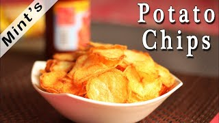 Potato Chips Recipe in Hindi-Indian Snacks Recipes-Indian Vegetarian Recipes Mints Recipes - Ep-103