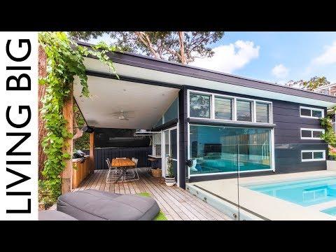 Luxury Modern Small Home Built In Suburban Backyard