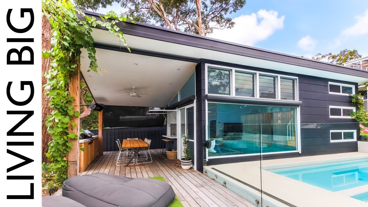 Luxury Modern Small Home Built In Suburban Backyard
