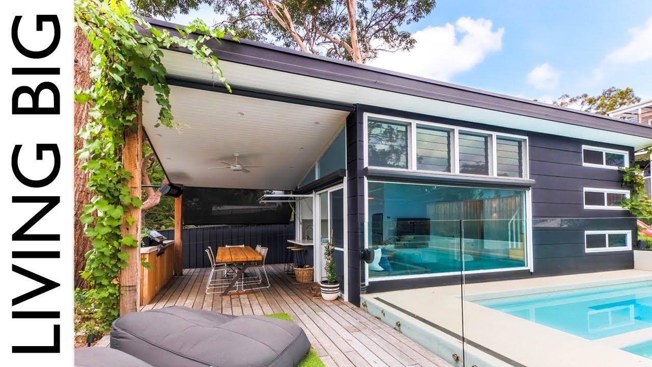 Luxury Modern Small Home Built In Suburban Backyard Youtube