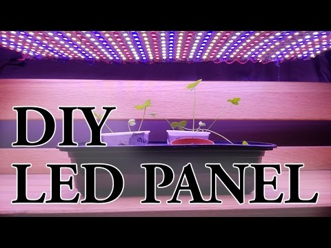 Diy led strip light panel for indoor growing hydro aloadofball Gallery
