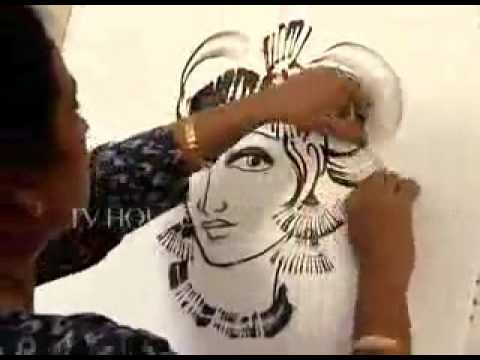 Thread Painting|Painting of lord Krishna