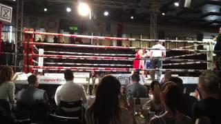 Zábojník vs Kandráč Boxing fight Round 2 (Muay thai evening Trenčín 13.5.2017)