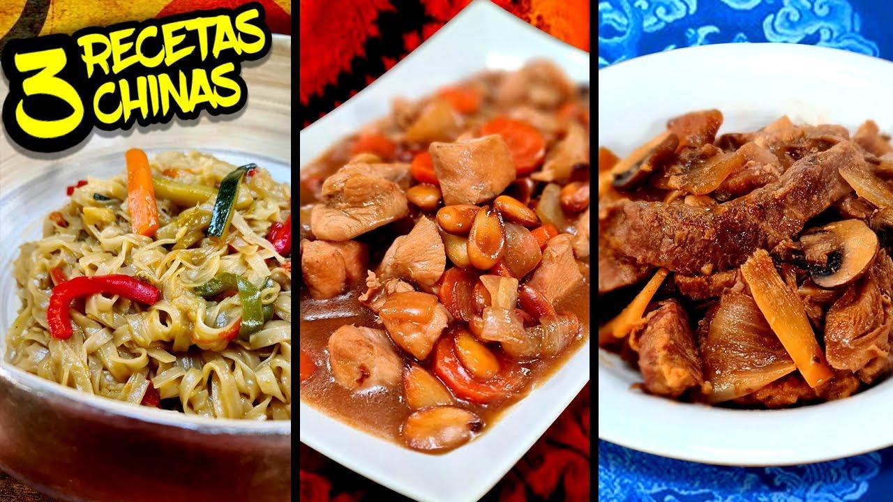 3 RECETAS de COMIDA CHINA 2 para hacer en CASA con las que FLIPARAS!