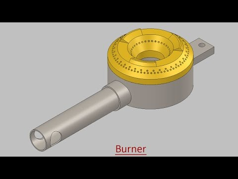 Burner (Video Tutorial) SolidWorks