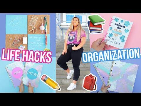 DIY LIFE HACKS FOR ORGANIZATION!! Back To School 2017!
