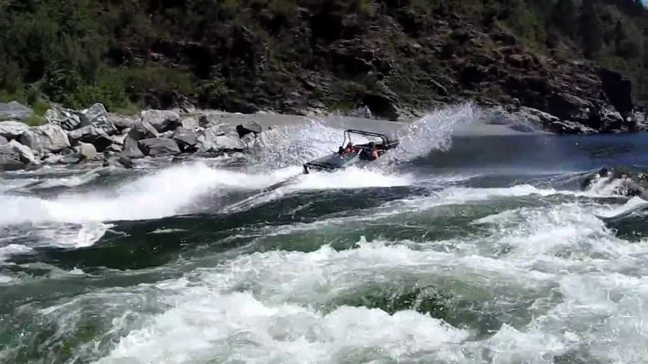 14 foot Sprint Boat up white water rapids Klamath River - Coon Creek ...