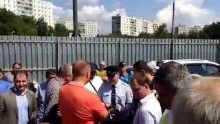 Митинг по поводу сноса МГСА 329(Заволюев Олег Николаевич, представитель ОАО