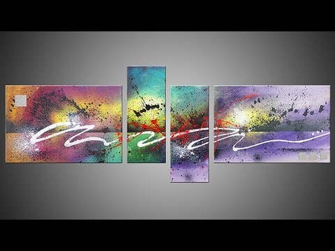 Cassandra Tondro Abstract Painting Using Leftover House