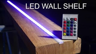 DIY Wood shelf - Designer LED Regal - Anleitung -