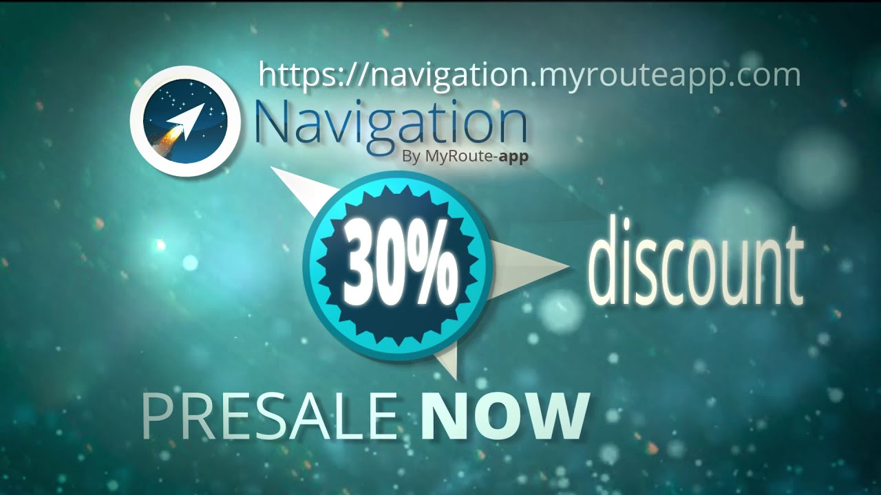PRESALE STARTED MYROUTE-APP NAVIGATION