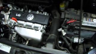 Работа холодного двигателя (CFNA) VW Polo sedan (Часть 2)
