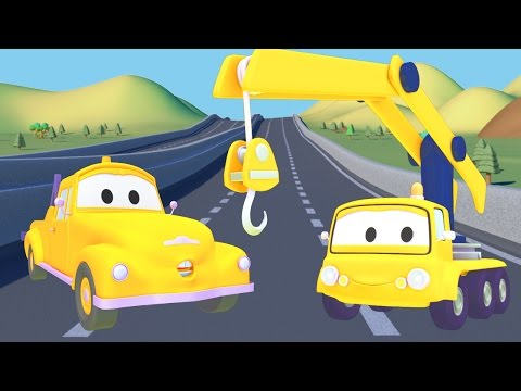 Crane and Tom the Tow Truck   Cars & Trucks construction cartoon for children