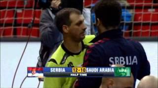 Serbia v Saudi Arabia (Preliminary Rd) handball 2013 Game 3