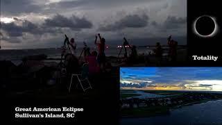 2017 Total Solar Eclipse-Sullivan's Island,SC/ Three Angle Video