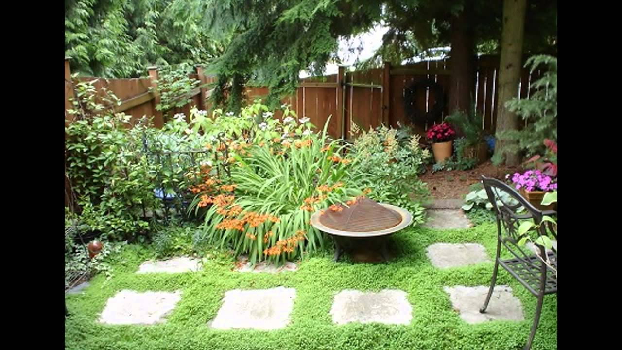Amazing Very small garden design ideas - YouTube on Small Backyard Landscaping  id=75135
