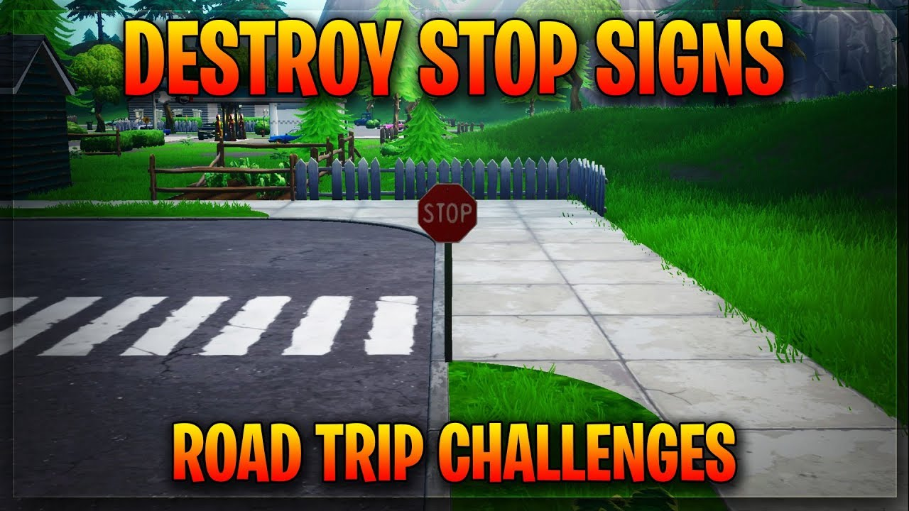 Destroy Stop Signs With The Catalyst Outfit - Fortnite ...