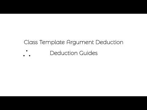 Class Template Argument Deduction