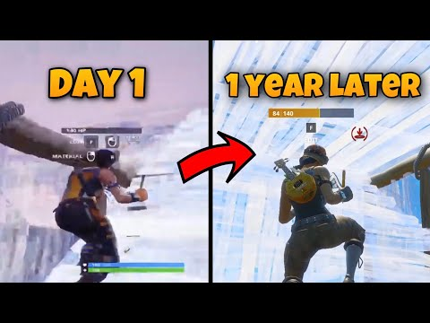 1 Year Keyboard Progression On Fortnite (PS4 To PC) *INSANE*