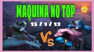 MONO   URGOT vs  MUNDO   TOP  KDA  15 / 1 / 12   v 10.11     PT - BR