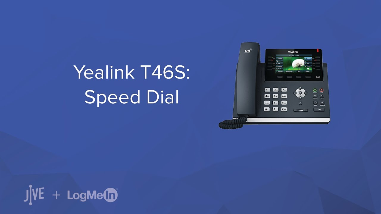Yealink T46S -- How do I set up speed dial keys?