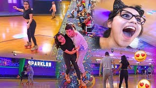 We Had Our First Dance | First Time Roller Skating!