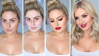 Glam Date Night Makeover! ♡ Pamper Routine; Skin, Makeup & Hair!