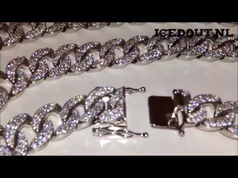 s ct inch diamond real men solid chain nck cuban chains miami mens necklace