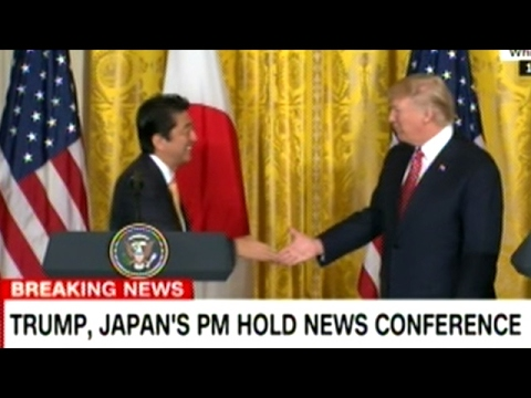 President Trump And Japanese Prime Minister Shinzo Abe Hold Joint Press Conference