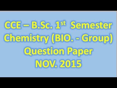 CCE -  B.Sc.  1st Semester Chemistry (BIOLOGY  Group -2015) P.G. College Rishikesh