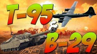 War Thunder Tanks - T95 & B-29 SUPERFORTESS! War Thunder Tank Gameplay