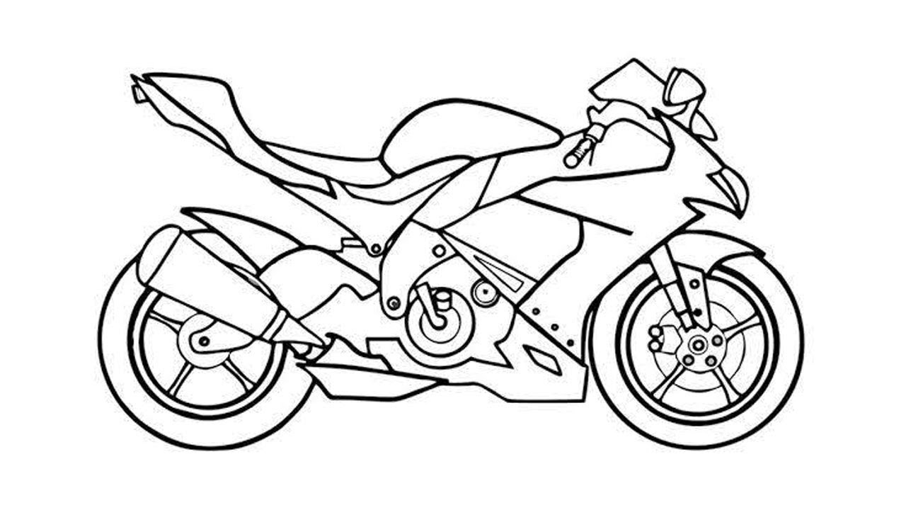 How To Draw A Super Bike For Racing Youtube