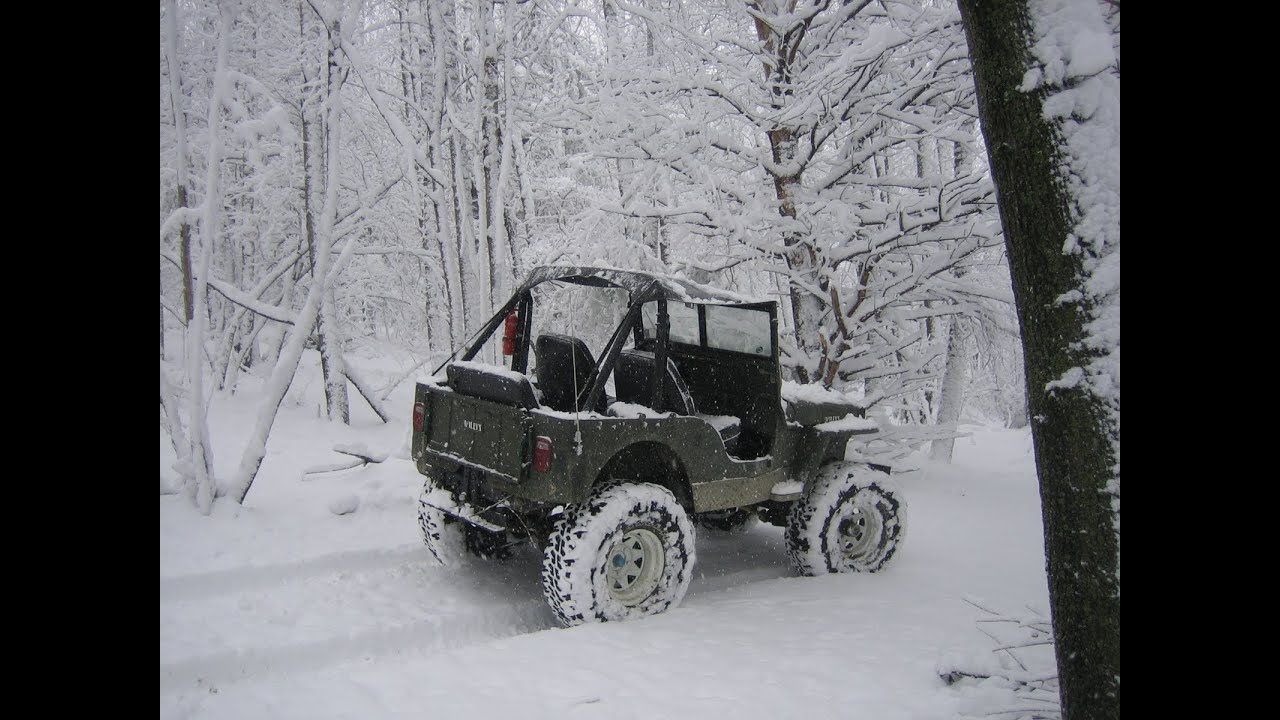Jeep In Snow >> Willys Jeep cj-2a playing in the snow - YouTube