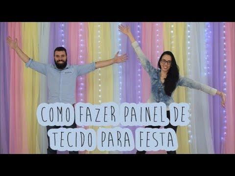Como Fazer Painel de Tecido para Festa  YouTube