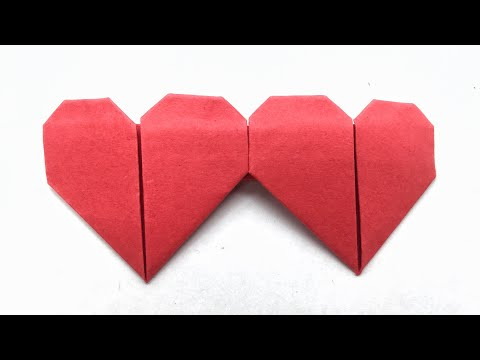 Dual Heart ❤️ from one sheet of paper - DIY Origami Tutorial by Paper Folds - 1005