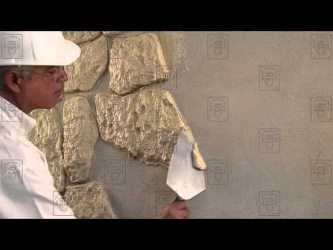 Pegaduro piedra en polvo moldeada tips para su - Pared de piedra ...