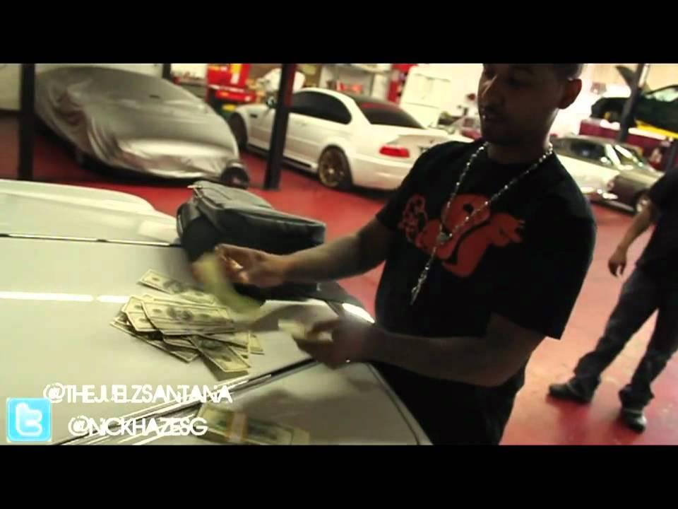 Juelz Santana Shows His Car Garage Smokes Blunt Youtube