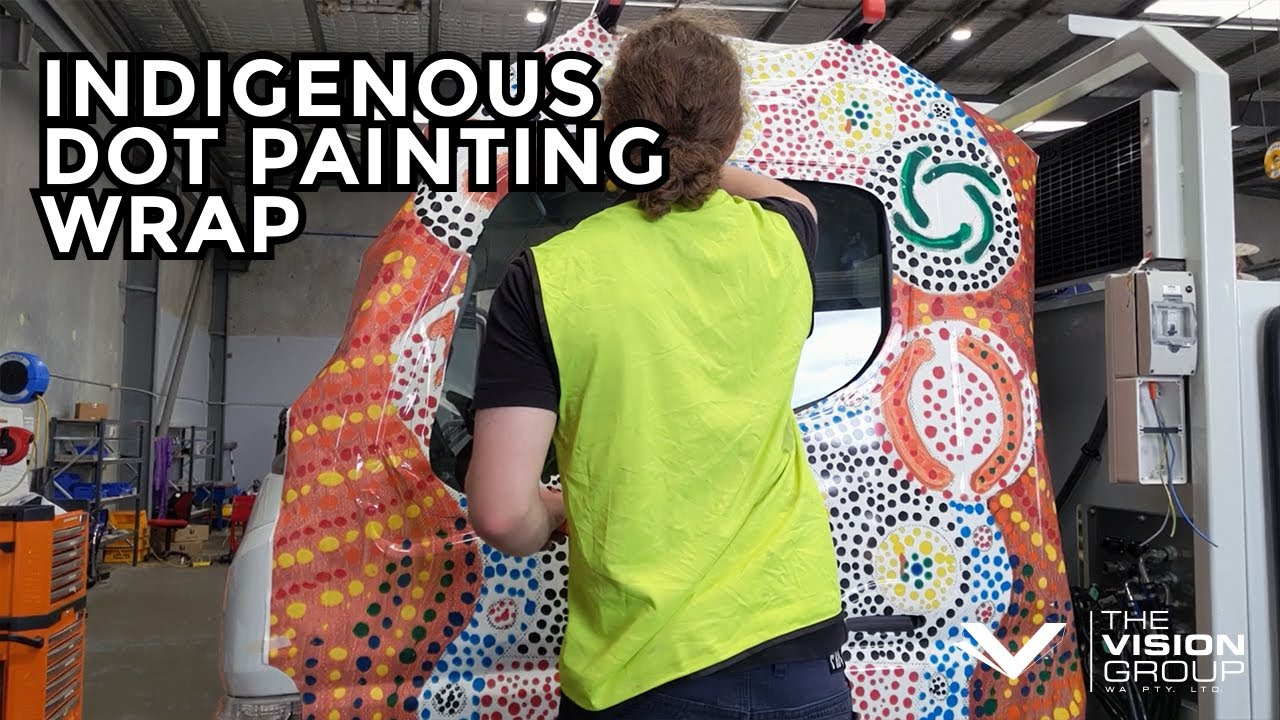 Indigenous Art Truck Wrap