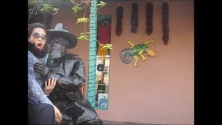 Women grope cowboy statue
