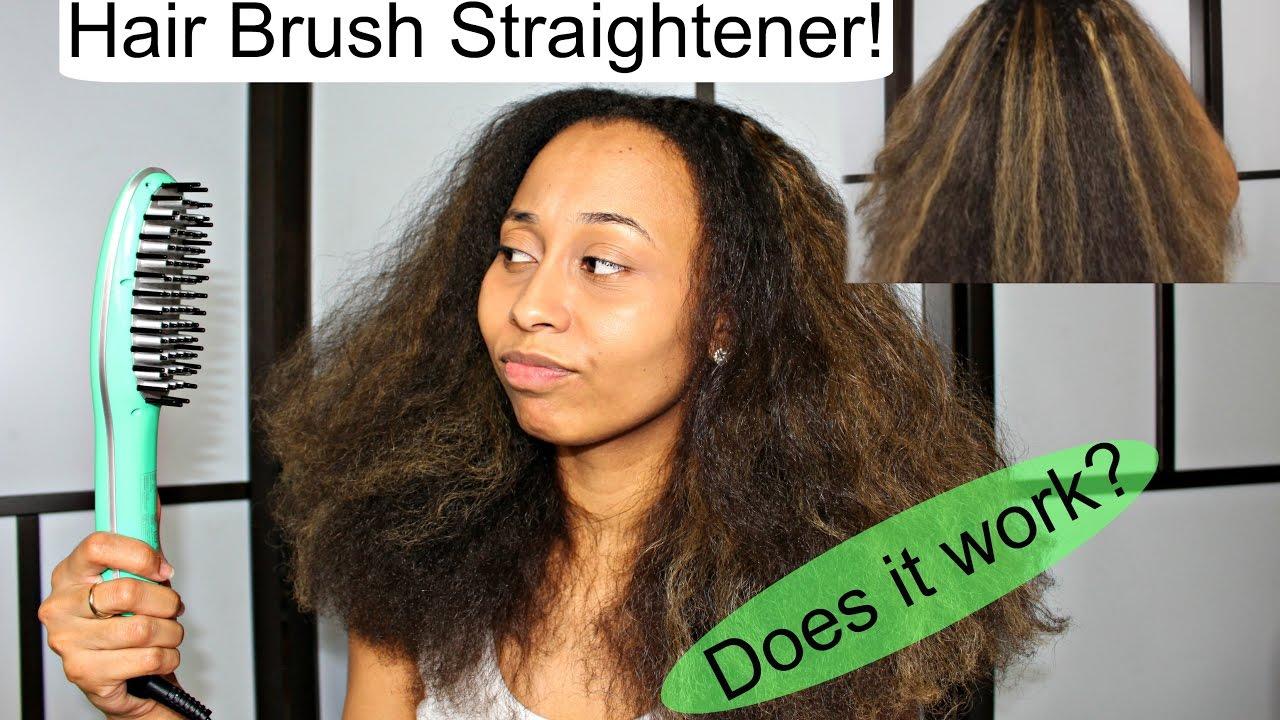 Hair Straightener Brush On Natural Hair Does It Work Ft