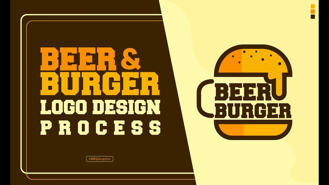Beer And Burger Business Logo Design Process Youtube