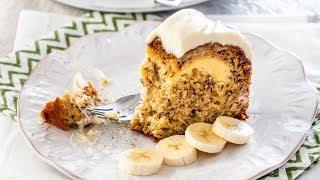 Cream Cheese Filled Banana Cake
