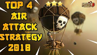 TOP 4 TH9 BEST AIR WAR ATTACK STRATEGIES FOR CLAN WAR LEAGUES 2018 UPDATE!! - CLASH OF CLANS(COC)