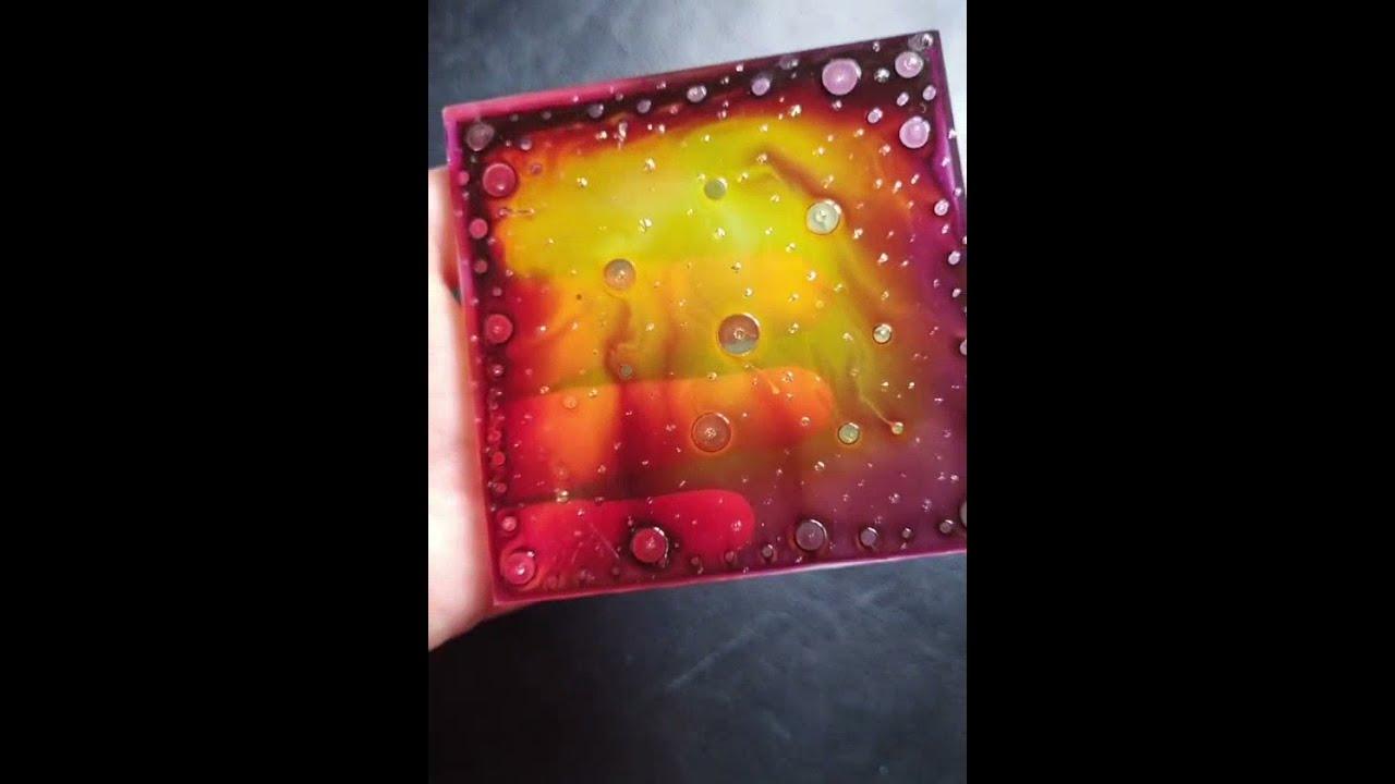 by Maria Marachowska Suncatcher Fire Fire Painting Original Painting Fire Glass Artwork Fire Glass Sculpture Fire Glass Painting Fire