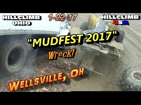 "[HILLCLIMB OHIO]1-22-17 ""MUDFEST 2017"" Wellsville, oh Hillclimbing/Riding/Wreck"