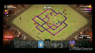 Clash of clans 3 star attack in Clan Wars|| Wiz+Valk+Pekka TH8