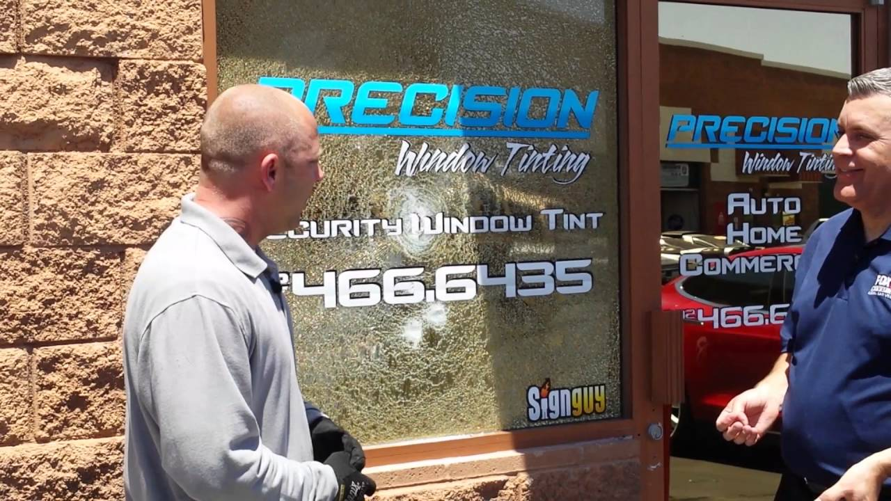 window tinting las vegas precision window tintinglas vegas security film demo fox5 news